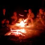 ogień - kiełbaski - cóż więcej potrzeba?