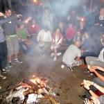 ognisko i kiełbaski